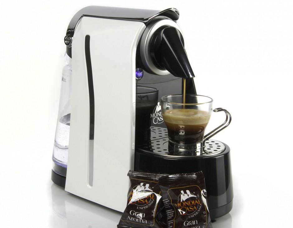 Macchina caff espresso 200 capsule monodose mondial casa - Macchina caffe professionale per casa ...